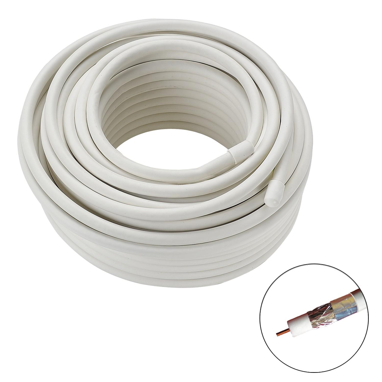 bobine de cable coaxial coaxial 19vatc diam tre blanc 20m ref 725631 la. Black Bedroom Furniture Sets. Home Design Ideas