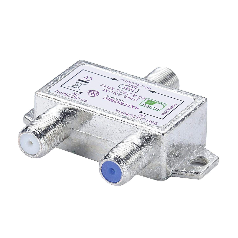 Coupleur d 39 int rieur 2 entr es 1 sortie connectique for Antenne hertzienne interieur