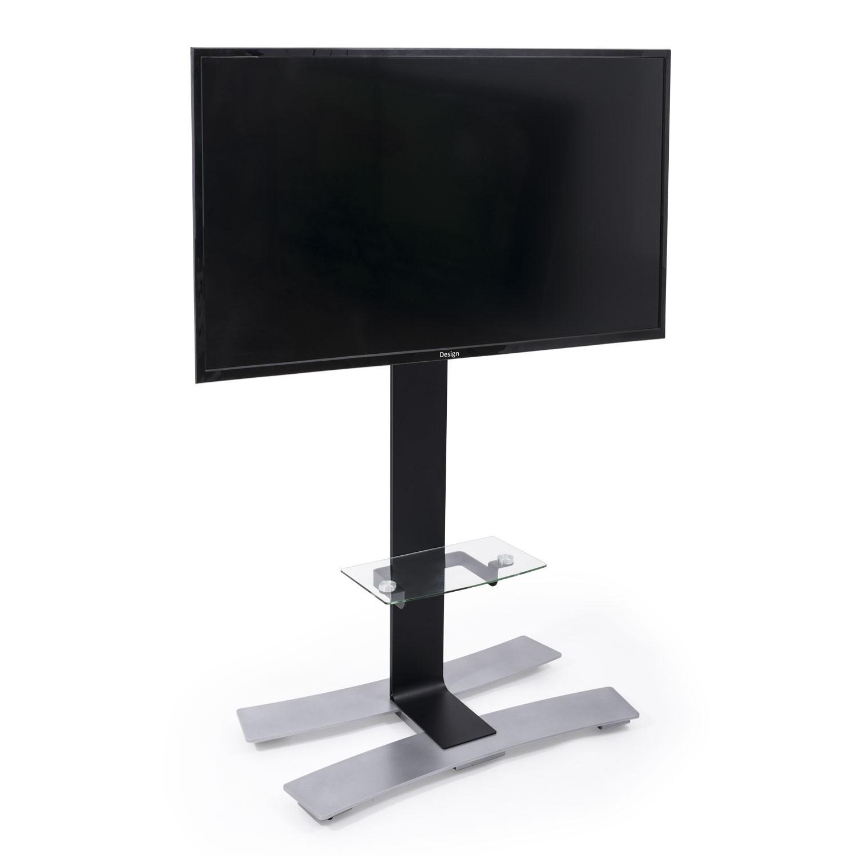 Will 1400xl Noir Tab Pied Tv Roulettes Avec Tablette 1400 Noir  # Meuble Tv Avec Support Ecran Plat