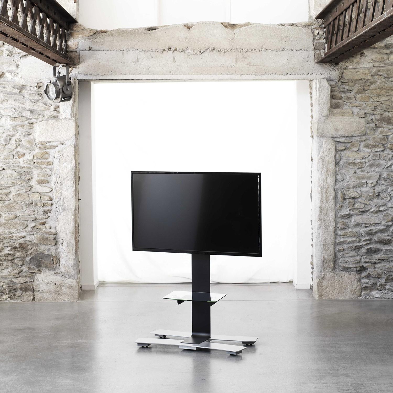 Will 1050l Noir Tab Pied Tv Roulettes Avec Tablette 1050 Noir  # Tablette Sous Tv Murale