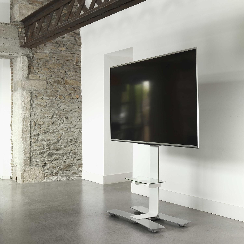 Will 1400xl Blanc Tab Pied Tv Roulettes Avec Tablette 1400  # Tablette Sous Tv Murale