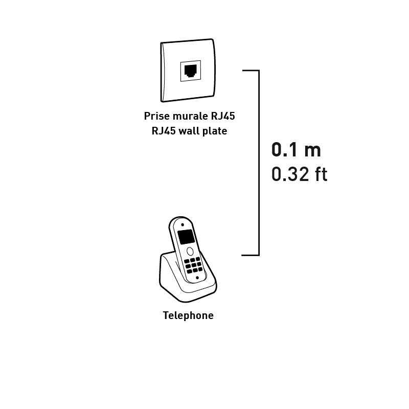 adaptateur prise t femelle rj45 m le 10cm prise t femelle rj45 m le 10cm ref 723789. Black Bedroom Furniture Sets. Home Design Ideas