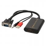 Convertisseur VGA mâle + Jack 3.5mm vers HDMI A femelle