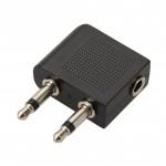 Adaptateur 2 x Jack 3.5mm mono mâle / Jack 3.5mm stéréo femelle
