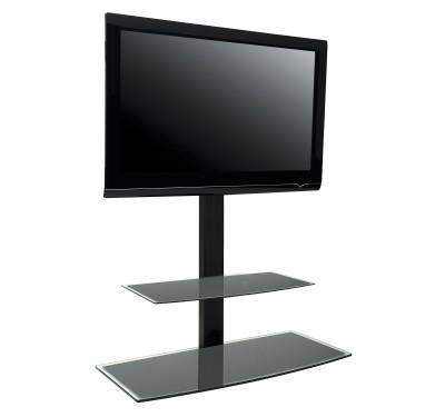Studio 1000 colonne orientable avec tag re pour cran de 30 55 - Meuble tv avec etagere ...