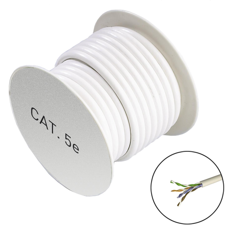 bobine de cable ethernet cat 5e u utp 24 awg 100mhz 300m ref 722309 la connectique. Black Bedroom Furniture Sets. Home Design Ideas
