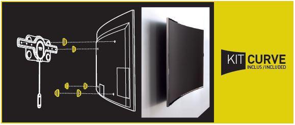Schéma support mural Fixit C pour écrans incurvés