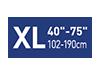 Picto taille XL40-75 pouces
